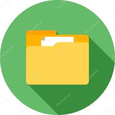 Folders Data Icon Stock Vector Dxinerz 76339917