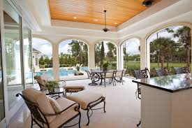 covered patio deck designs. This Massive Covered Stone Tile Patio Features A Small Bar In Addition To The Cozy Lounge Deck Designs