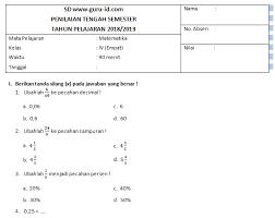 Kunci jawaban mata pelajaran :matematika kelas vi semester i. Soal Pts Matematika Kelas 4 Semester 1 Dan 2 K13 Beserta Kunci Jawaban Edisi 2019 Info Pendidikan Terbaru