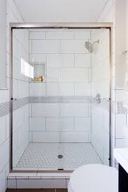 white honeycomb shower floor tiles