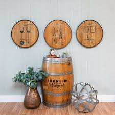 Discover unique ways to bring them into your own home. Whiskey Barrel Head Wine Grapes Leaves Fruit Wall Art Bar Sign Home Decor Us Polybull Com