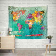 antique world map wall tapestry antique world map wall hanging