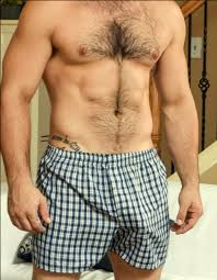 Husband cums in boxers
