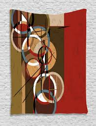red tapestry retro grunge surreal art
