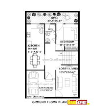 house plan for 25 feet by 40 feet plot plot size 111 square yards