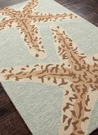 sea star jadeite green area rug blue rugs lakes and throughout coastal themed plans 2