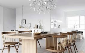 Küche Im Skandinavischen Stil Kalter Schnee Und Wärme Des