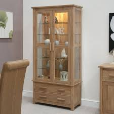 cabinet. Homestyle GB Opus Oak Glass Display Cabinet