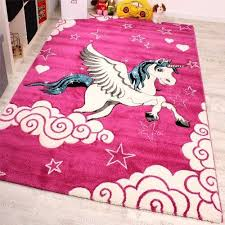 details about pink unicorn rug for girl baby bedroom carpet play room mat small extra large xl