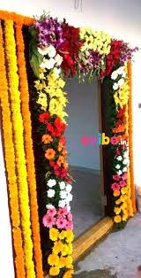 Grand Entrance Decoration With Flowers house-warming party decoration