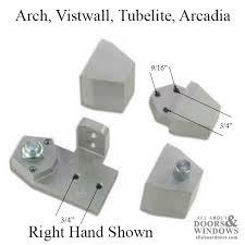 front commercial doors pivot hinge arch vistawall right hand aluminum
