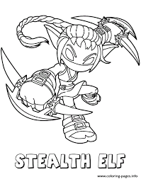 Small Picture Skylanders Giants Life Series2 Stealth Elf Coloring Pages Printable