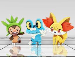 MMD Pokemon - Starter Gen 6 DL by MMDSatoshi on DeviantArt