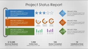 Project Status Slide Project Status Report Powerpoint Slide Design Project Management