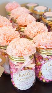 diy girl baby shower favors ideas. diy baby shower favor gifts! all you need is mason jars, pink and gold diy girl favors ideas