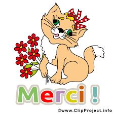 Chat images - Merci clip art gratuit - Merci dessin, picture, image,  graphic, clip art télécharger gratuit