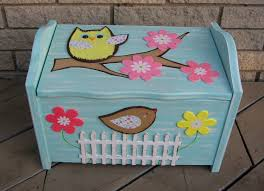 brooke owl toy box chest  foot stool  seat  pottery barn kids
