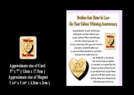 brother sister in law 25th to 70th wedding anniversary inspirational wedding anniversary gift ideas for brother