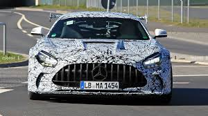 All versions also adopt the mbux infotainment system that incorporates augmented reality and eliminates the. Mercedes Amg Gt Black Series With Giant Wing Spied In The Snow