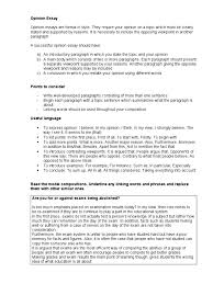 opinion essay paragraph test assessment
