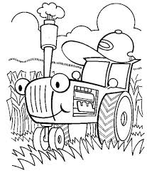 Small Picture Tractor is Busy Coloring Page Download Print Online Coloring