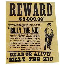 Amazon Com Hm Billy The Kid Wanted Dead Or Alive Old West