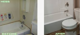 hess tub shower replacement before after