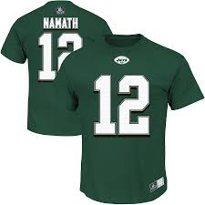 Fame Receiver Green Of Joe Majestic Eligible amp; Number T-shirt Ii Jets Namath Hall York New Men's Name