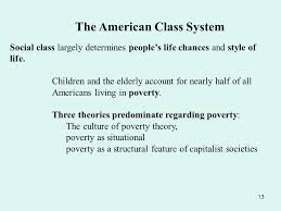 social stratification ppt  the american class system