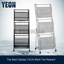 newspaper rack for office. YEON Metal Powder Coated 3 Layer Foldable Magazine Rack Holder Newspaper Stand For Office K