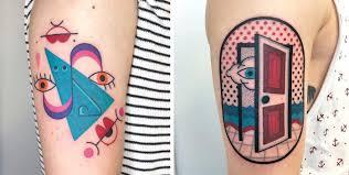 красочные психоделические татуировки от тату мастера Winston The