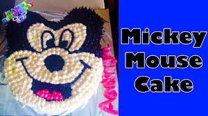 Disney Mickey Mouse Birthday Cake Recipe Homemade Eggless Cake
