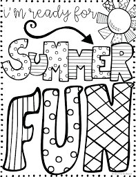 Fun Coloring Pages For Kids Summer Fun Sheets Printable Coloring