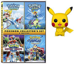 Amazon.com: Heroes of Collectors Pokémon 4-Film Set DVD Cartoon Pokemon  4Ever, Jirachi, Pokemon Destiny Deoxy's Collectors with pikachu 4 movies  figure bundle: Movies & TV