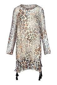 Chloe Dress Size Chart Chloe Leopard Print Gauze Dress