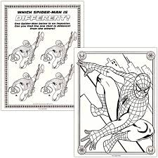 Super hero on the background of the web. Amazon Com Spider Man Coloring Activity Book Set 2 Books 96 Pgs Each By Marvel Comics Toys Games