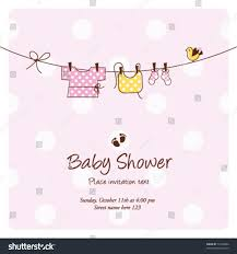New Baby Shower Invitation Card Stock Vector Slow Shower Drain