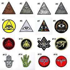 The syllable is also referred to as omkara (ओंकार oṃkāra) or aumkara (औंकार auṃkāra). Eye Of Providence Horus Hamsa Hand Egyptian Om Hindu God Symbol Iron On Patch Ebay