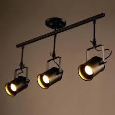 loft black monorail spot light semi flush mount track lighting led fixed