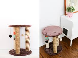 diy ombr pink cat scratching post salty canary throughout how to make a scratcher designs 15
