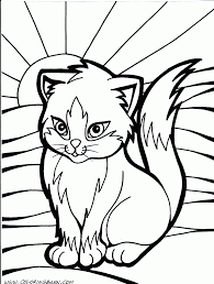 Cat Color Pages Printable Cat Kitten Printable Coloring Pages ...