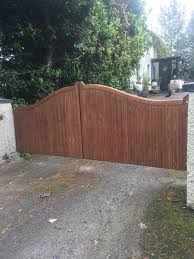 solid wooden entrance gates