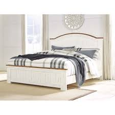 B549B4 Wystfield - White/Brown 3 Piece Bed Set (King) by Ashley ...