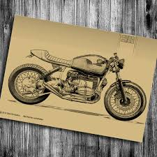 old motorcycle wall art