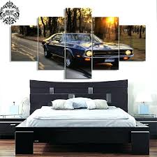 mustang wall art canvas printed 5 pieces ford mustang wall art pictures home decor for living mustang wall art