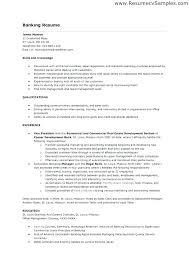 Banking Resume Samples Banking Resume Format A Sample Investment