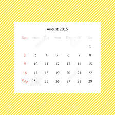 2015 Calendar Page Simple Minimalistic Calendar Page For August 2015 On Abstract