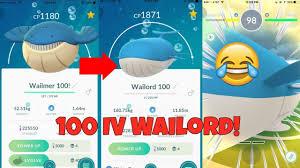 Evolve Wailmer Pokemon Go