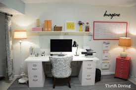 office makeover. Basement Office Makeover - Use Two File Cabinets And An Old Door Or  Countertop To Create Office Makeover E