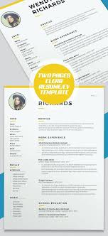 Creative Professional Resume Template For Word Illustrator ...